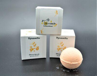 Dynamite bath bomb, F-Bomb, lush, bath bomb